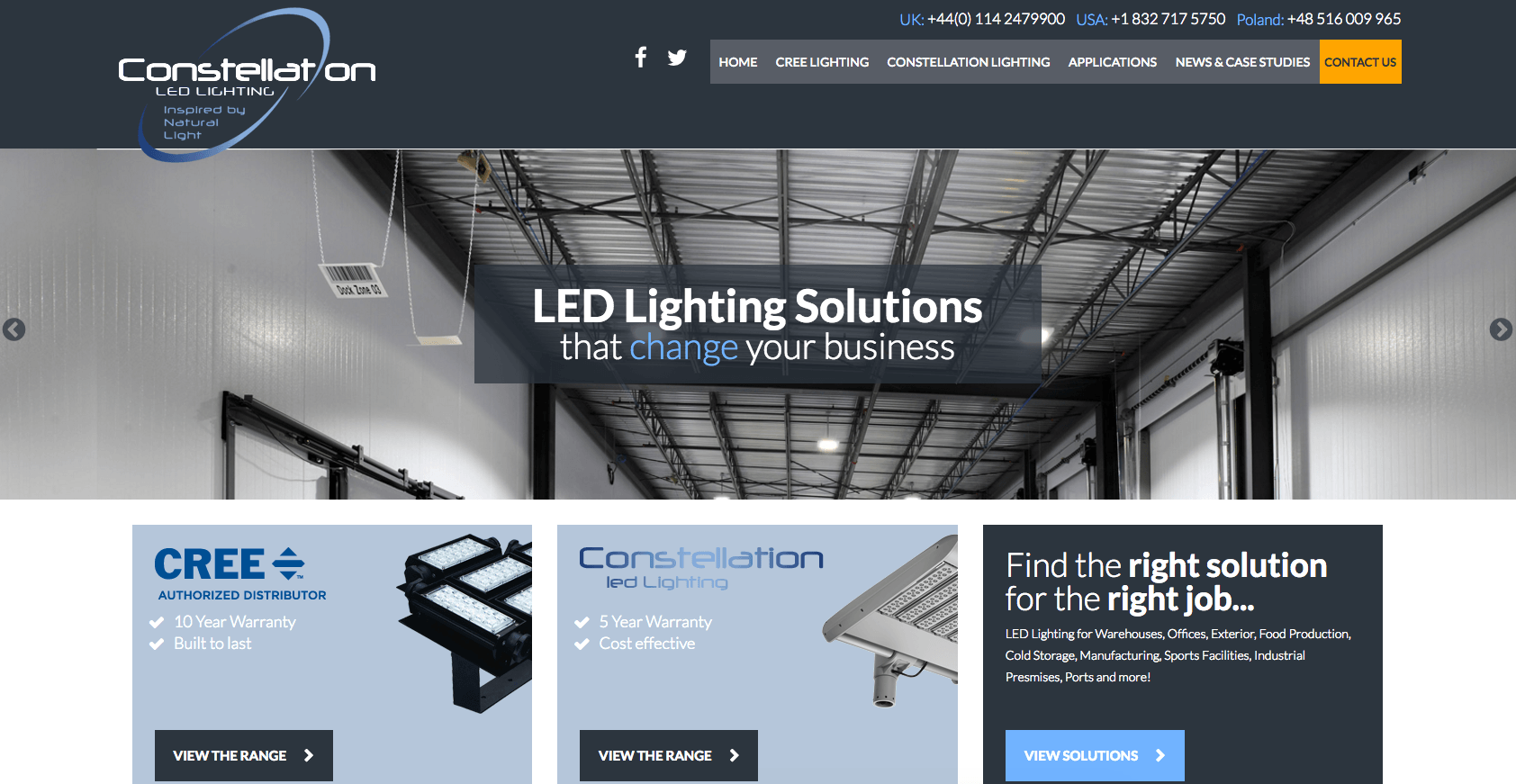 Constellation Lightin's new site